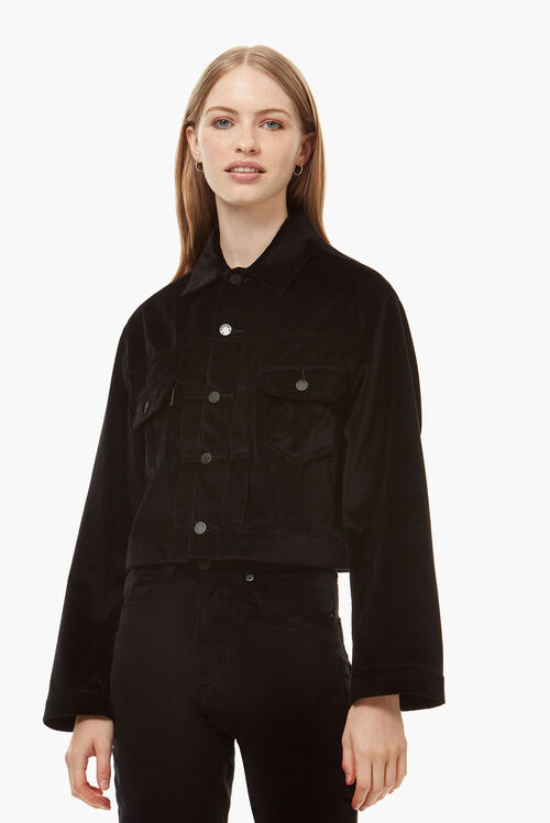 Berty Velvet Jacket Black