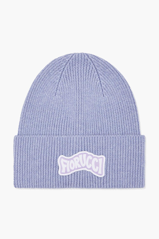 Woodland Wavy Logo Beanie Hat Lilac