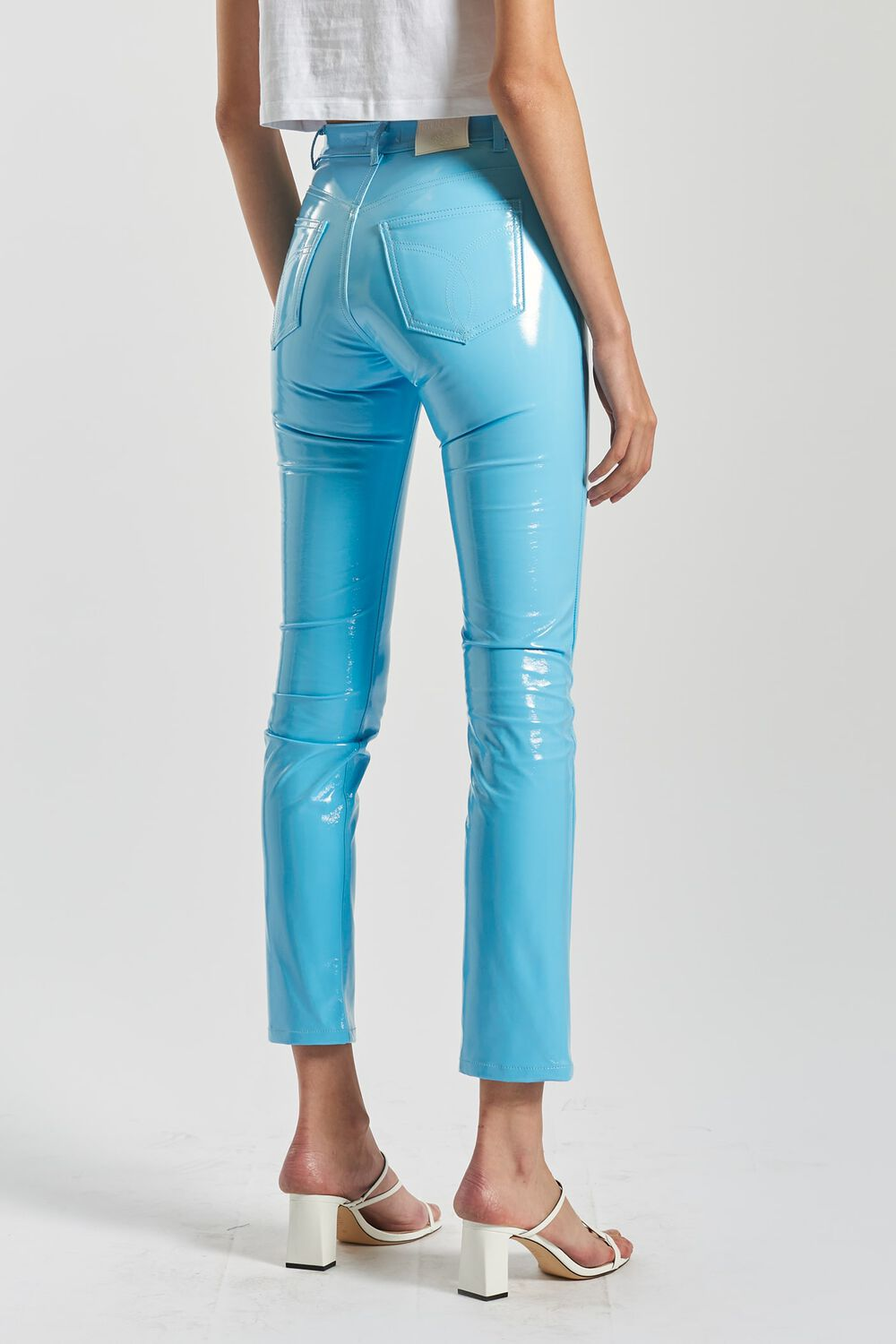 Yves Vinyl Trousers Sky Blue