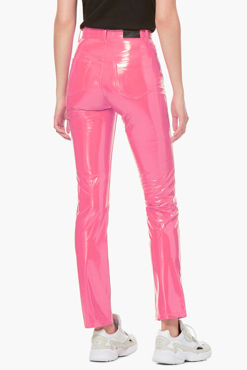Yves Vinyl Trouser Hot Pink