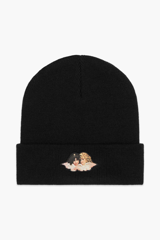 Angels Patch Beanie Hat Black