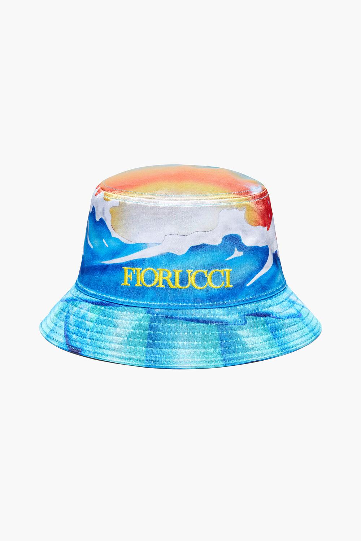Cosmic Waters Pride Print Bucket Hat Blue