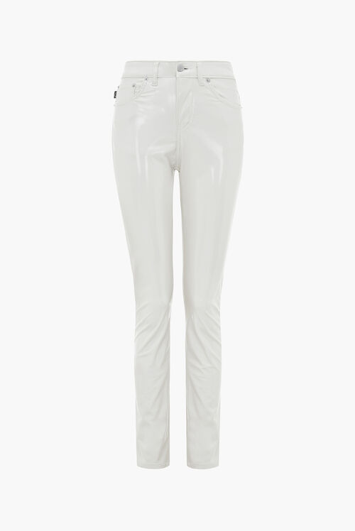 Yves Vinyl Trousers White
