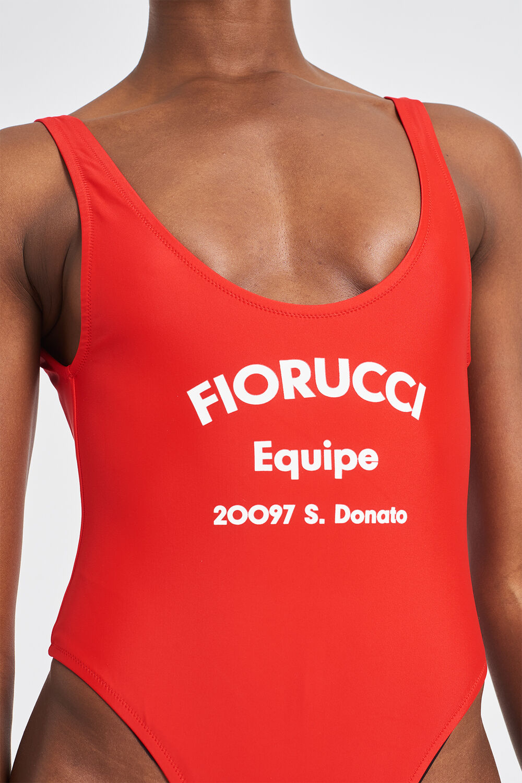 Equipe Logo Scuba Swimsuit Red