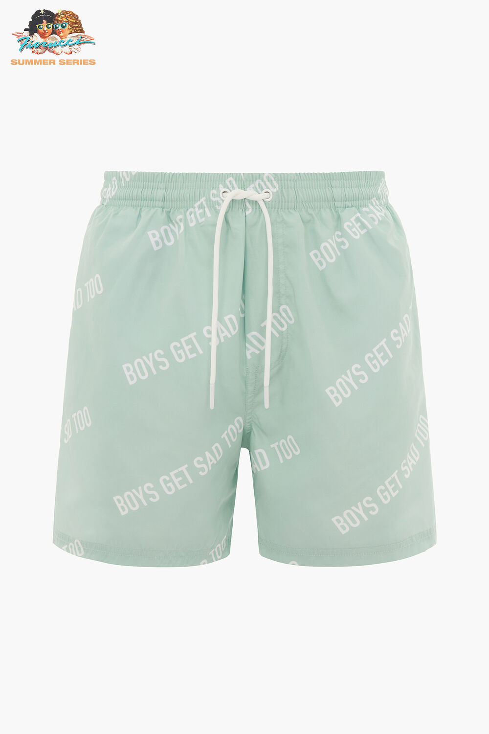 Boys Get Sad Too All Over Shorts Green