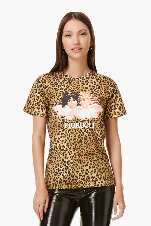 Vintage Angels T-Shirt Leopard