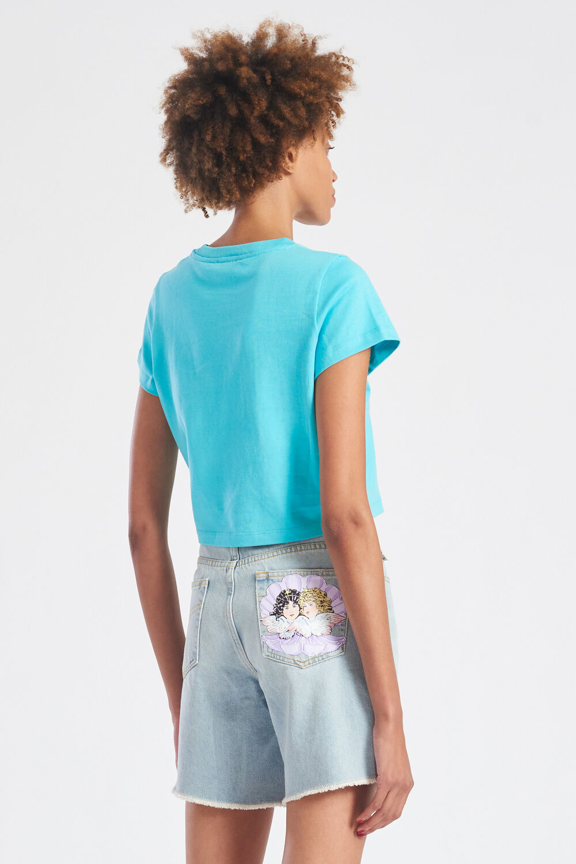 The Wetter The Better Crop T-Shirt Pale Blue