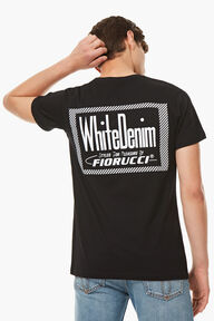 White Denim T-Shirt Black