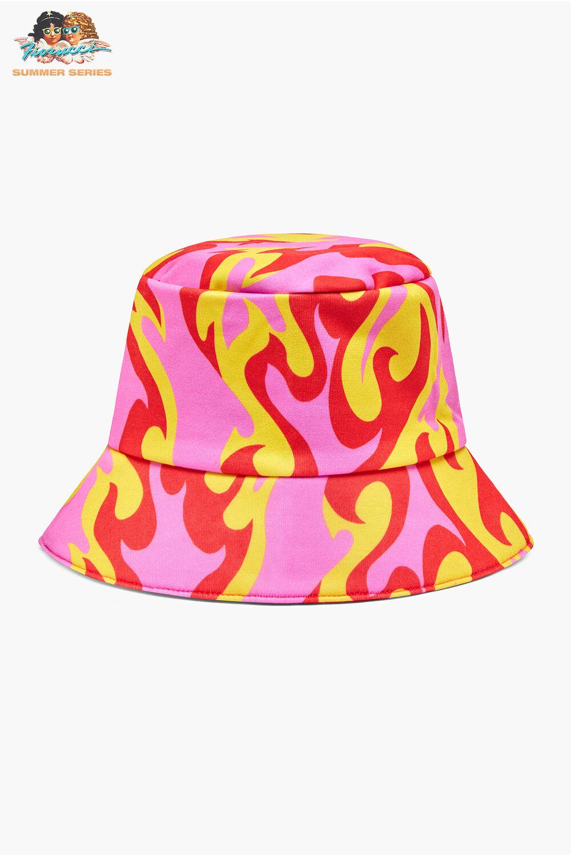 Tara Khorzad Pink Flame Bucket Hat Pink