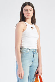 Icon Angels Ribbed Vest White