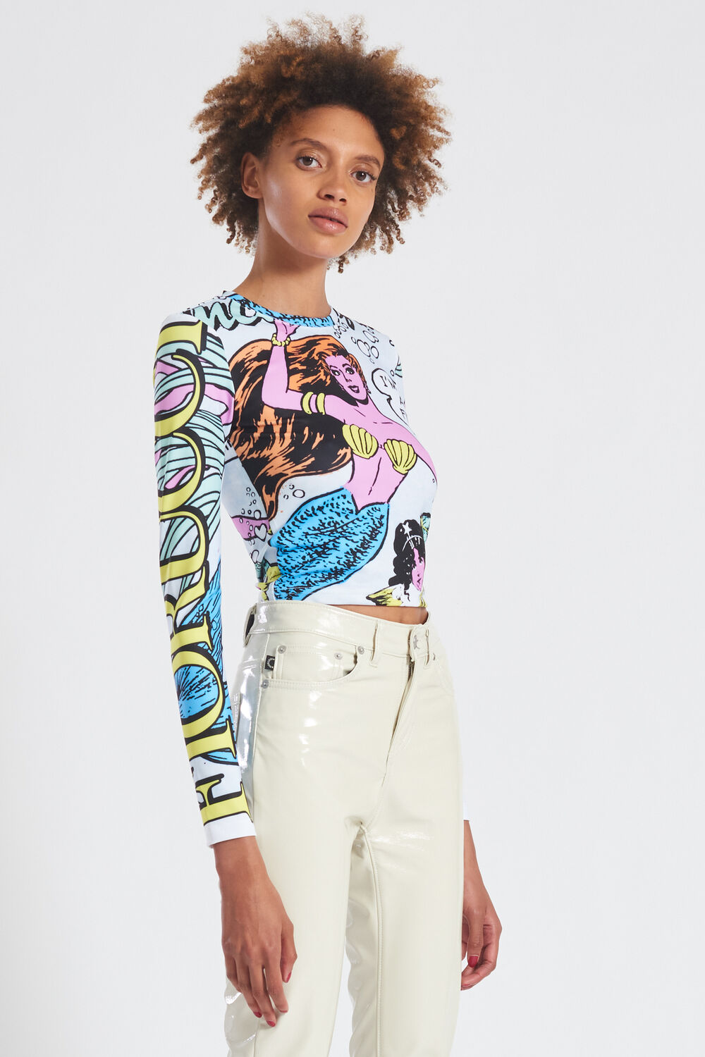 Princess Of The Sea Graphic Long Sleeve Top Blue