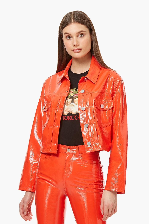 Berty Vinyl Jacket Orange