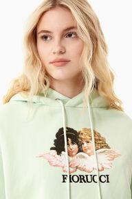 Angels Crop Hoodie Mint Green