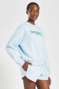 Embroidered Logo Angels Sweatshirt Pale Blue