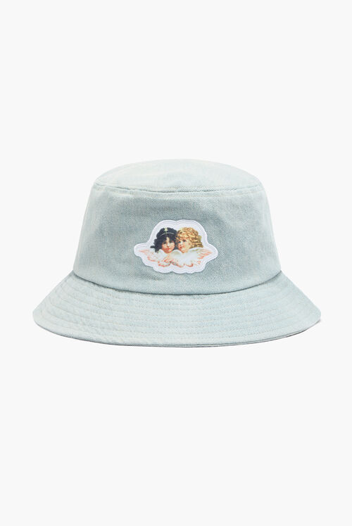 Icon Angels Denim Bucket Hat Blue