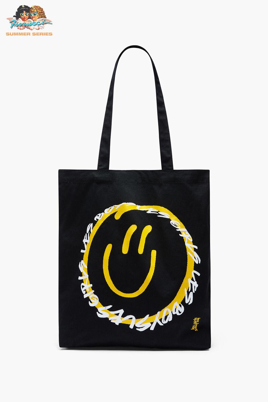 Les Girls Les Boys Smiley Face Toe Bag Black