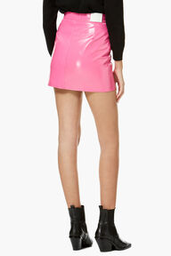Vinyl Mini Skirt Hot Pink