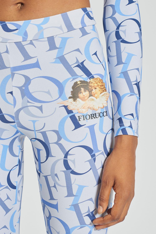 All Over Logo Leggings Blue