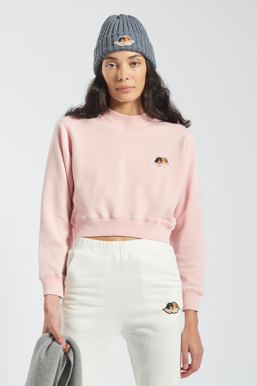 Angels Icon Crop Sweatshirt Pale Pink