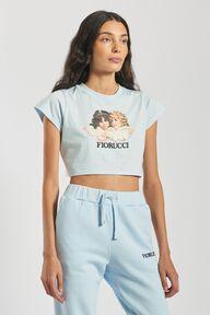 Angels Crop T-Shirt Pale Blue