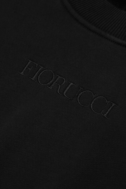Embroidered Logo Crop Sweat Black