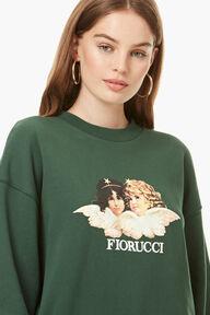 Vintage Angels Sweatshirt Forest Green