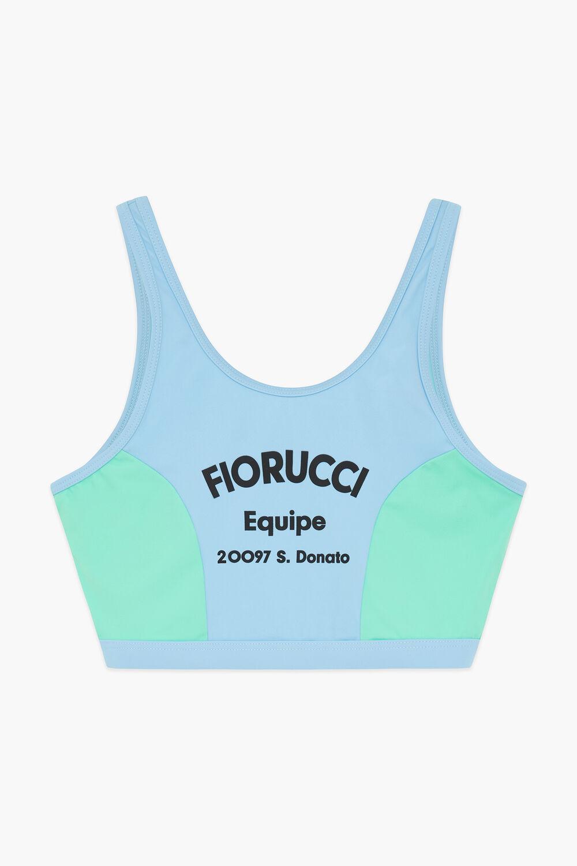 Equipe Logo Scuba Crop Vest Blue