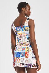 Panini Print Graphic Mini Dress