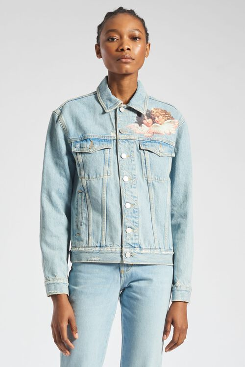 Nico Front Patch Jacket Blue