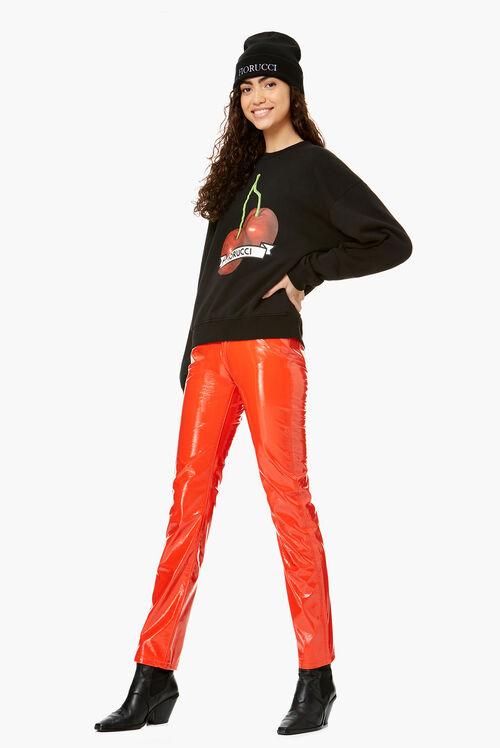 Cherry Graphic Sweatshirt Black