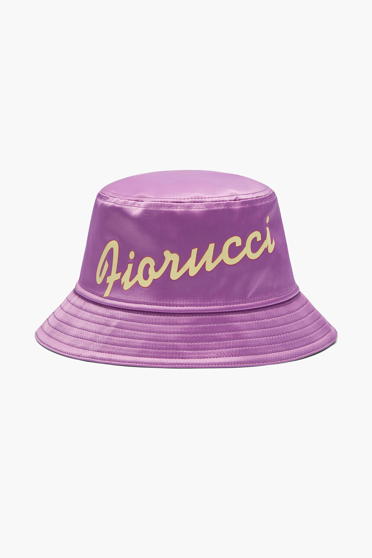 Fiorucci Logo Bucket Hat Purple