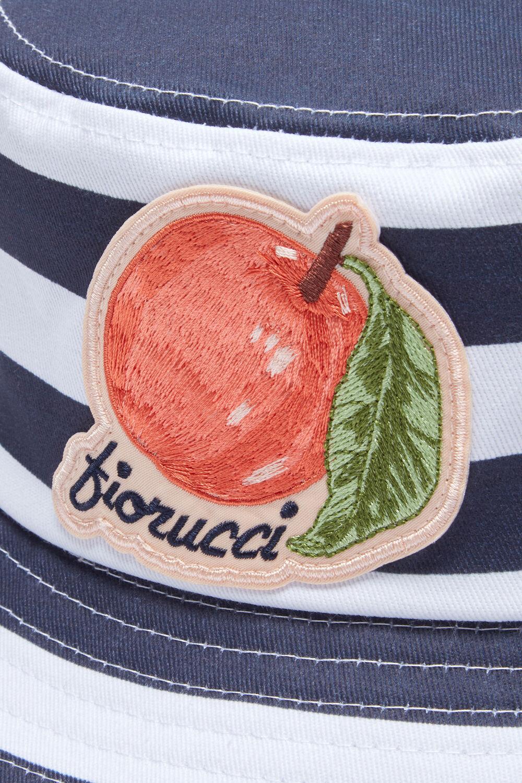 La Pesca Peach Logo Stripe Bucket Hat Blue