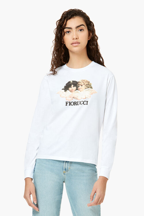 Long Sleeve Angels T-Shirt White