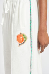 Fiorucci Peach Towelling Flared Joggers White