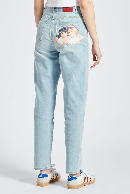 Racing Angels Patch Tara Jeans Blue