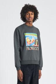 Pool Print Sweatshirt Charcoal Grey