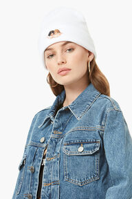Angels Patch Beanie White