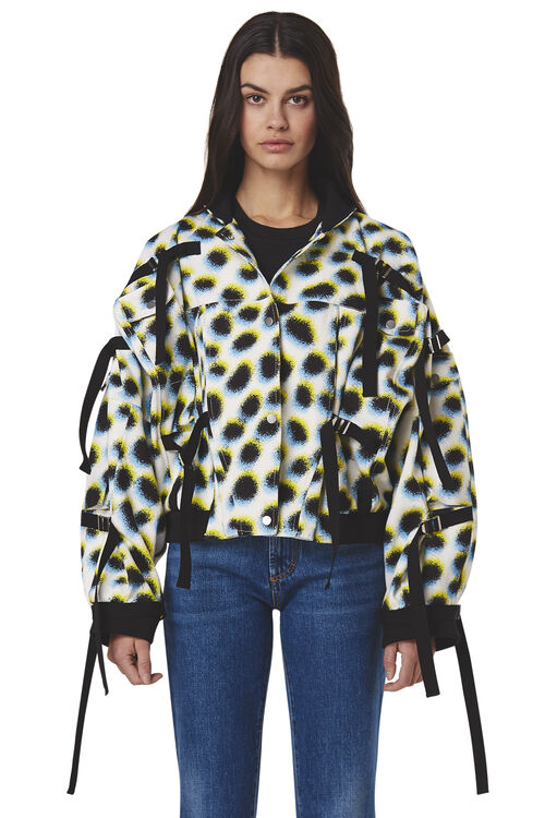 Leopard Canvas Strapped Jacket
