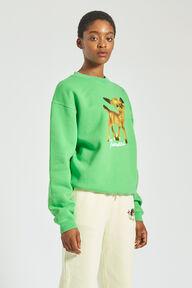 Woodland Deer Sweatshirt Green