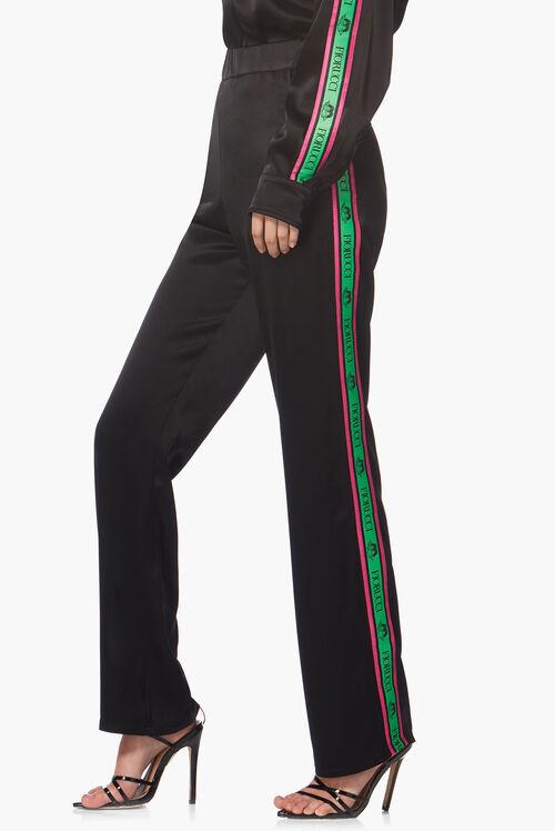 Logo Pyjama Style Trousers Black