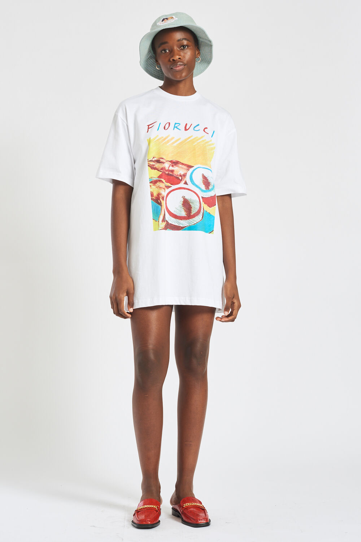 Archive Graphic Print T-Shirt Dress White