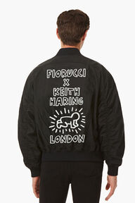 Keith Haring Lou Bomber Black