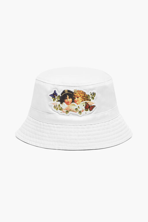 Woodland Angels Bucket Hat White