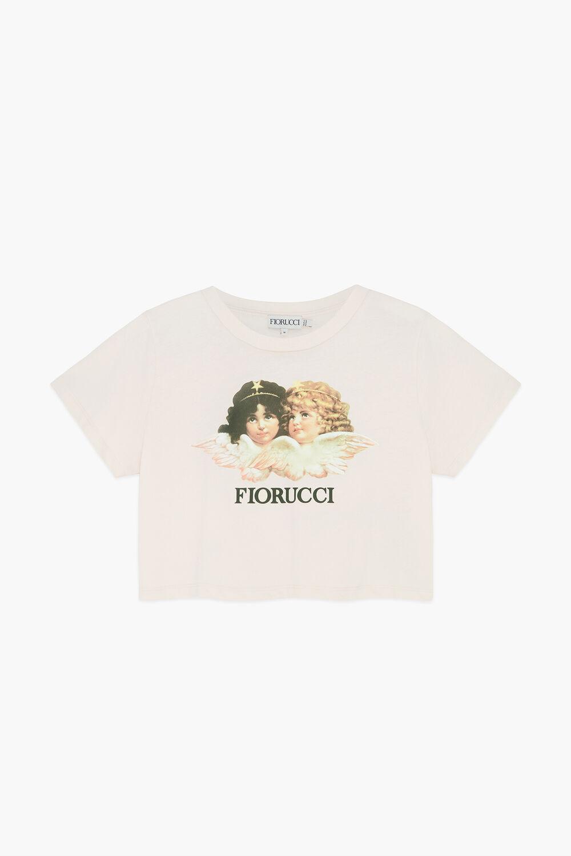 Angels Crop T-Shirt Pale Pink