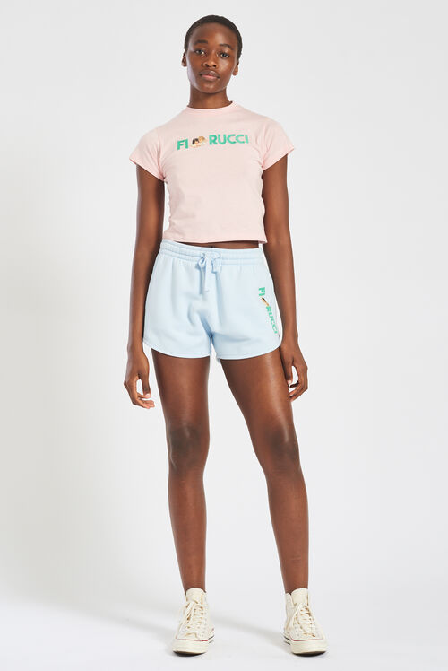 Embroidered Logo Angels Track Shorts Shorts Pale Blue