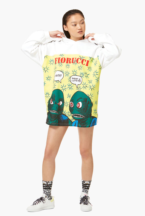Adidas x Fiorucci Graphic Archive Print Hoodie