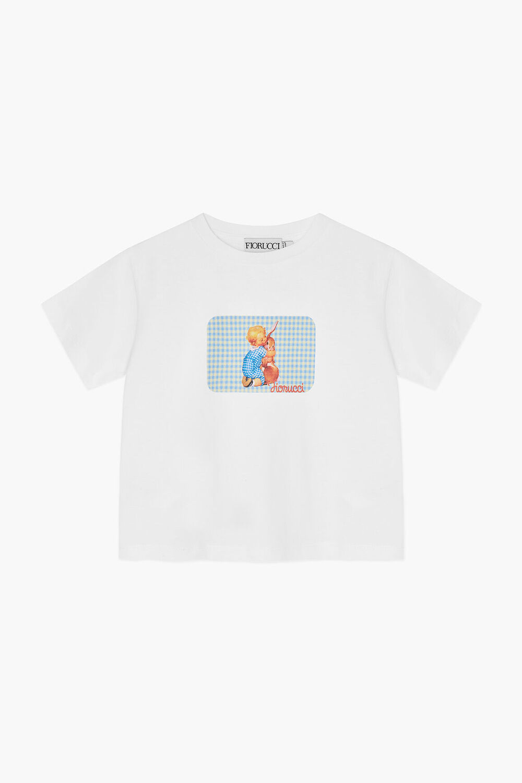 Baby Cuddle Boxy Crop T-Shirt White