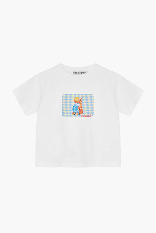 Baby Cuddle Boxy Crop T-Shirt White