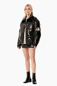 Vinyl Puffer Jacket Black
