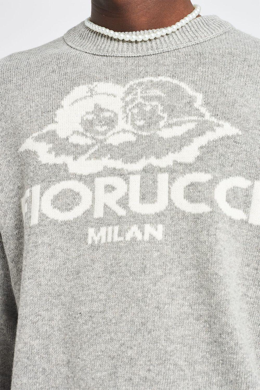 Milan Angels Knit Jumper Grey